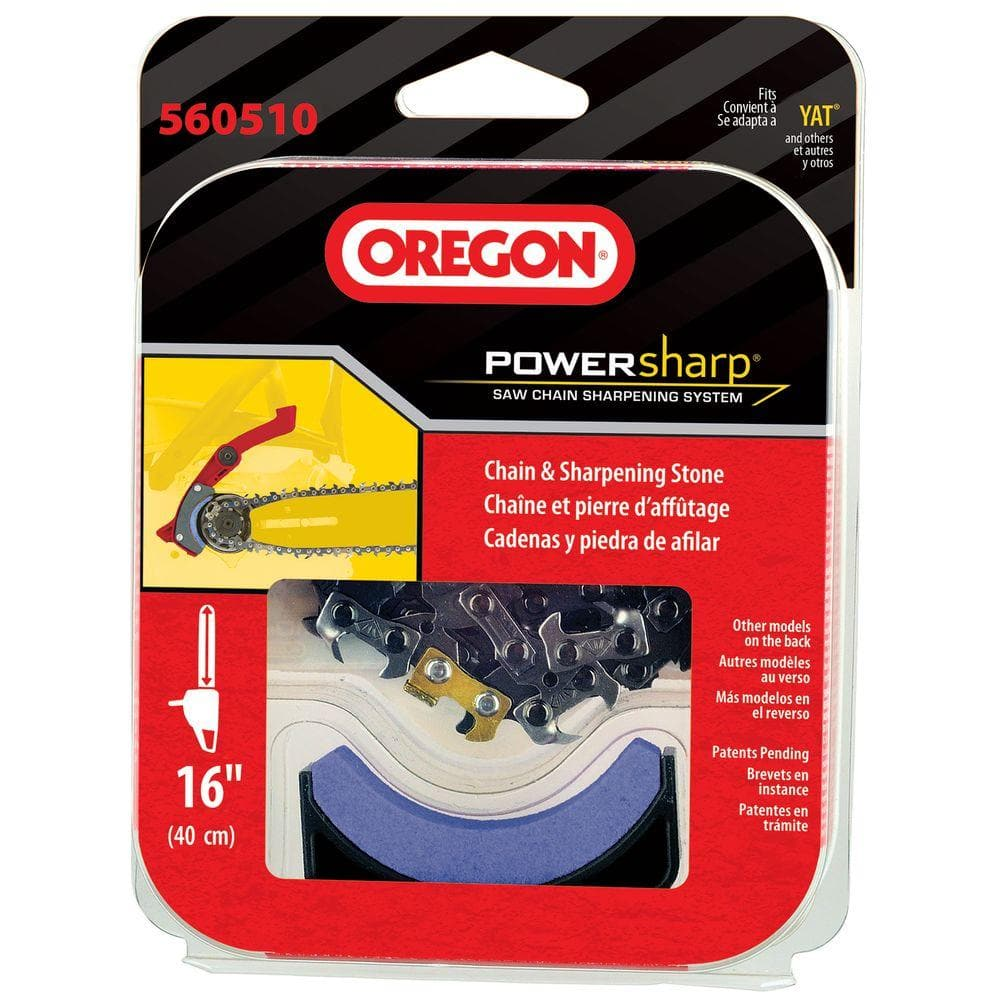 Oregon Powernow Cs300 Replacement Chainsaw Chain Powersharp 16 In Includes Sharpening Stone 560510 The Home Depot