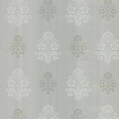 Madeline Silver Floral Strippable Wallpaper (Covers 56.4 sq. ft.)