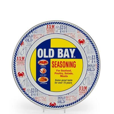 Old Bay 10.5 in. Enameled Steel Round Dinner Plate (Set of 4)