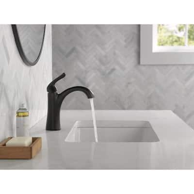 Arvo Single Hole Single-Handle Bathroom Faucet in Matte Black