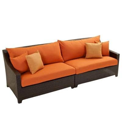 Deco Patio Sofa with Tikka Orange Cushions