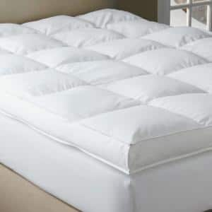 Black Label PrimaLoft 18 in. Queen Down Alternative Featherbed Mattress Pad