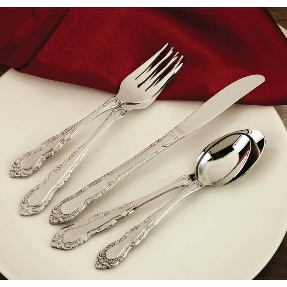 Utica Cutlery Co Utica Cutlery Company Patrician 20 Piece Set Service For 4 813820 The Home Depot