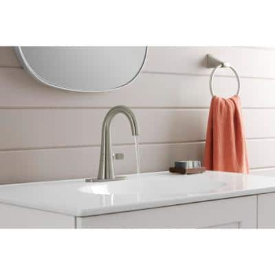 Tocar Single Hole Single-Handle Bathroom Faucet in Vibrant Brushed Nickel