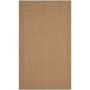 Palm Beach Maize 3 ft. x 5 ft. Speckled Border Area Rug