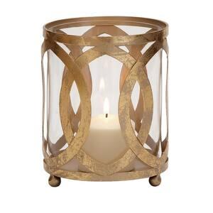 Gold Metal Glam Candle Lantern