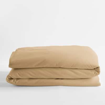Legends Luxury Solid Topaz Cotton Sateen Oversized King Duvet Cover