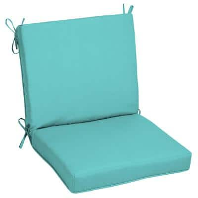 Oak Cliff 22 x 40 Sunbrella Canvas Aruba Mid Back Outdoor Dining Chair Cushion