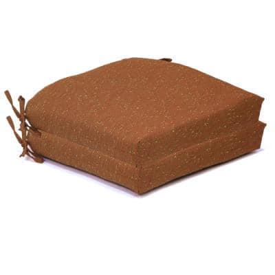 21 in. x 21 in. x 4 in. Outdoor Deluxe Square Dining Cushion in Russet Confetti (2-Pack)