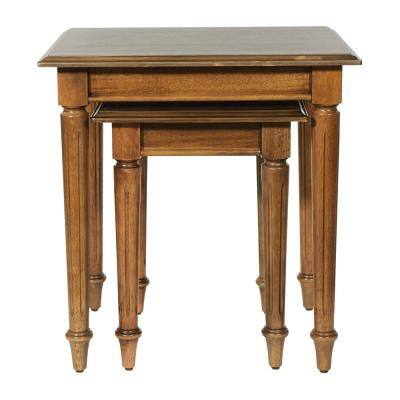 Bandon Ginger Brown Nesting Table (Set of 2)