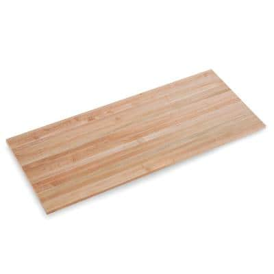 Finished Maple 6 ft. L x 30 in. D x 1.75 in. T Butcher Block Island Countertop with Eased Edge