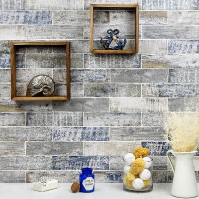 Strait Wood 3 in. x 12 in. 8mm Polished Ceramic Subway Wall Tile (22-piece 5.38 sq. ft. / box)