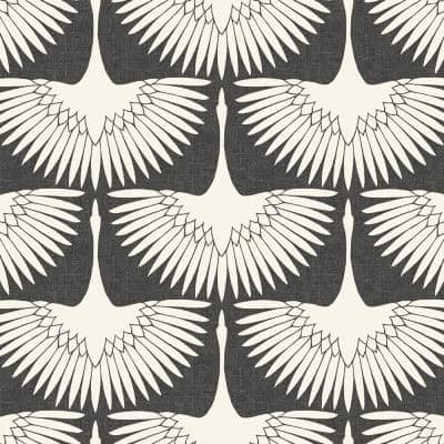 Genevieve Gorder Feather Flock Storm Gray Peel and Stick Wallpaper (Covers 28 sq. ft.)
