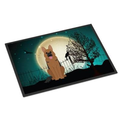 24 in. x 36 in. Indoor/Outdoor Halloween Scary German Shepherd Door Mat