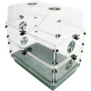 Seed and Herb Domed Propagator with 2 Vented Side Height Extensions and Security Clip Set