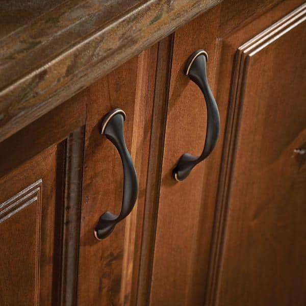 Liberty 3 In 76 Mm Center To Center Bronze With Copper Highlights Half Round Foot Drawer Pull P39955c Vbc C The Home Depot