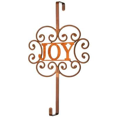 """16 in. Christmas """"JOY"""" Wreath Hanger"""