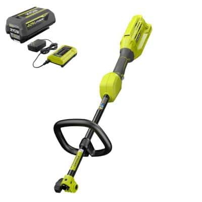 40V Expand-It™ Cordless Battery Attachment Capable Trimmer Power Head with 4.0 Ah Battery and Charger
