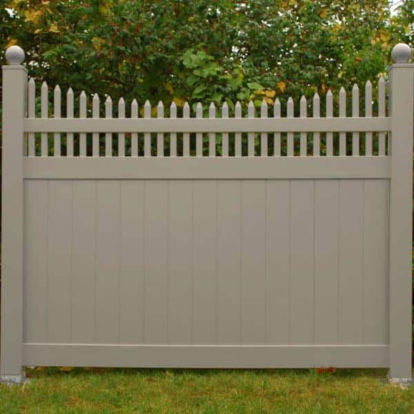 Weatherables 5 In X 5 In X 9 Ft Khaki Vinyl Fence Line Post Lkpt Line 5x108 The Home Depot