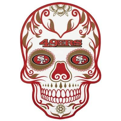 NFL San Francisco 49ers Outdoor Skull Graphic- Small
