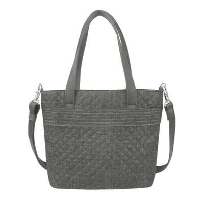 Anti-Theft Boho Gray Tote Bag