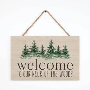 Welcome To Individual Brown Decorative Sign