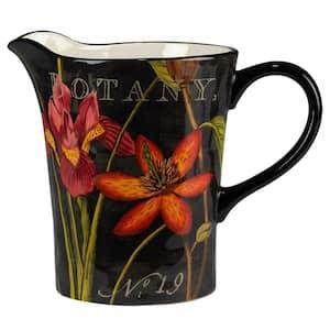 Botanical Floral 112 fl. oz. Multicolored Earthenware Pitchers