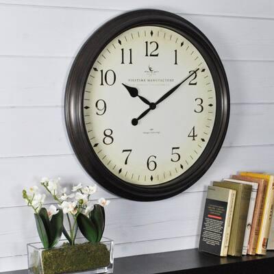 20 in. Round Avery Whisper Wall Clock