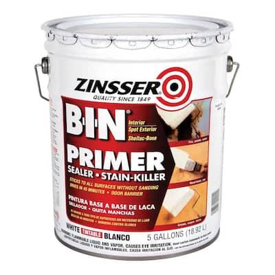 5 gal. B-I-N Shellac-Based White Interior Primer and Sealer