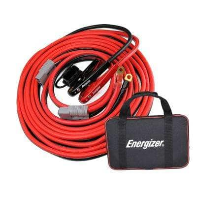 1-Gauge 30 ft. Jumper Cables with Quick Connect