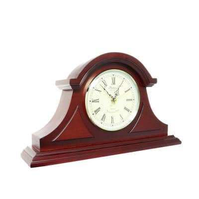 Redwood Tambour Mantel Clock with Chimes