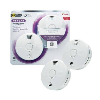 10 Year Worry-Free Sealed Battery Combination Smoke and Carbon Monoxide Detector with Voice Alarm (2-Pack)