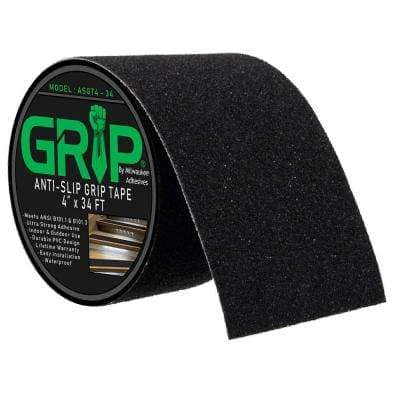 4 in. x 34 ft. Anti-Slip High Traction Safety Grip Tape for Stairs, Steps, Ladder