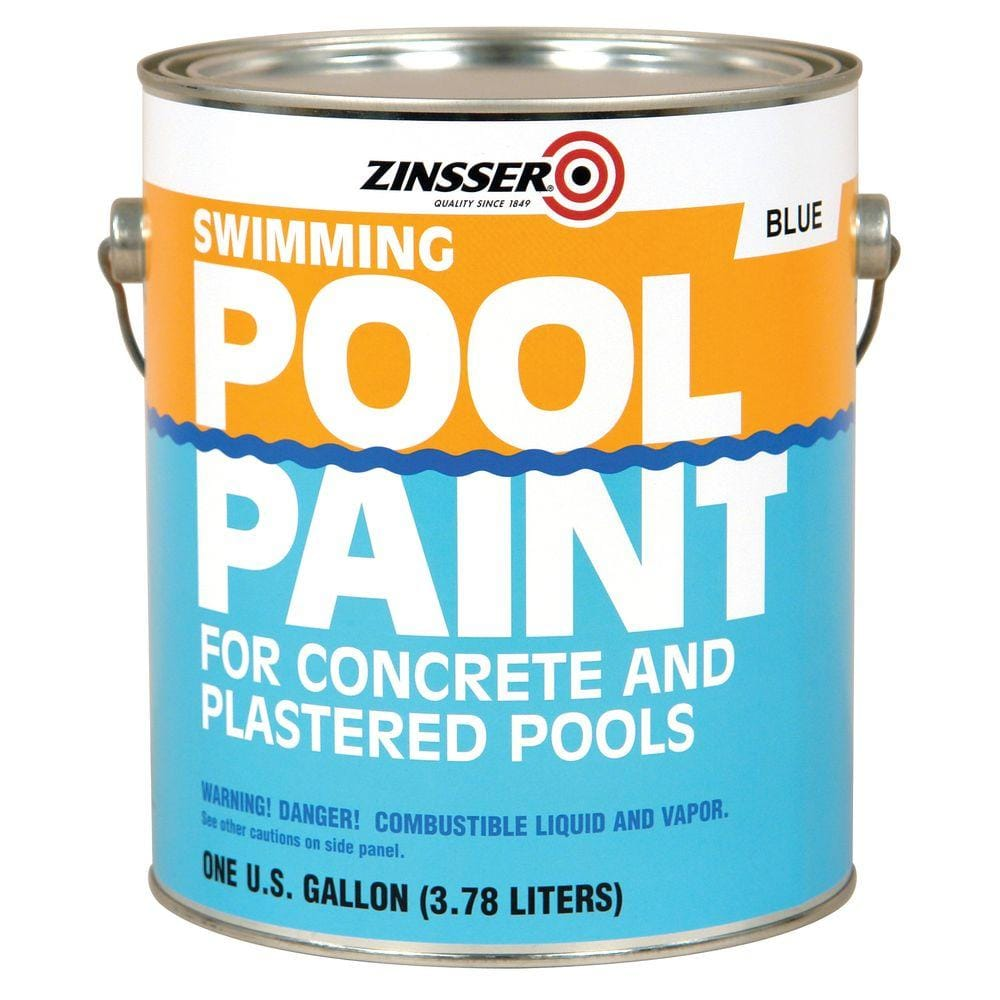 Zinsser 1 Gal Blue Flat Oil Based Swimming Pool Paint 4 Pack 260539 The Home Depot