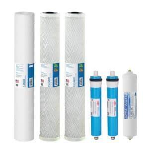 Ultimate Complete Replacement Filters with Membrane for 180 GPD Premium Commercial Grade Reverse Osmosis System