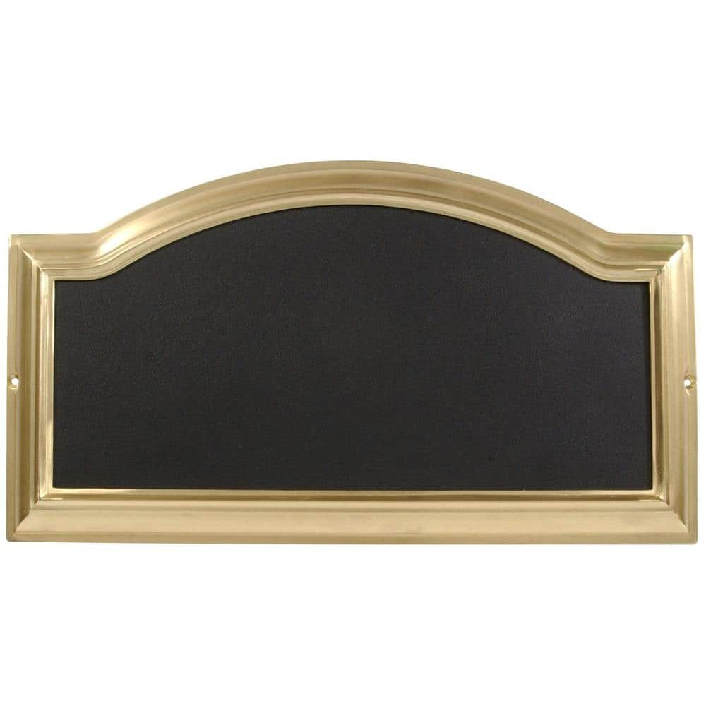 Hillman Distinctions Rectangular Arch Top Brass Plated Address Plaque 843266 The Home Depot