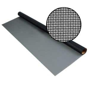 84 in. x 25 ft. Charcoal Fiberglass Screen 20 x 20 No-See-Um Mesh