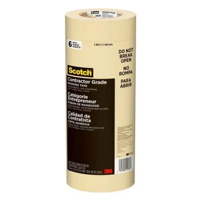 Scotch 1.88 in. x 60.1 yds. Contractor Grade Masking Tape (6-Pack)