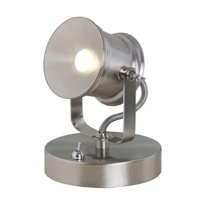 5.1 in. Brushed Nickel Integrated LED Spotlight Desk Lamp