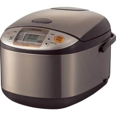 Micom 10-Cup Stainless Steel Rice Cooker with Built-In Timer