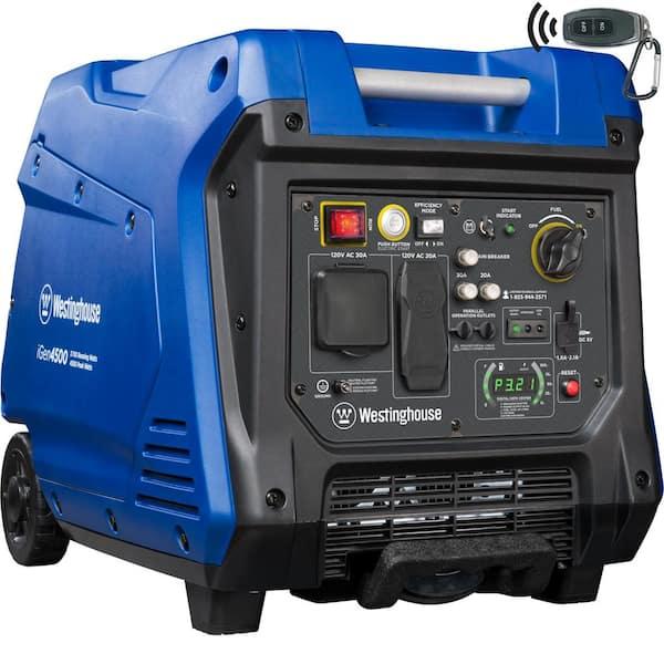 Westinghouse iGen4500 Electric Start Portable Inverter Generator 3700 Rated & 4500 Peak Watts