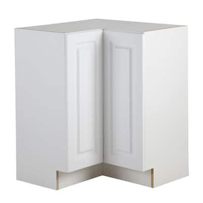 Benton Assembled 27.6 in. x 27.6 in. x 34.5 in. Lazy Susan Corner Base Cabinet in White