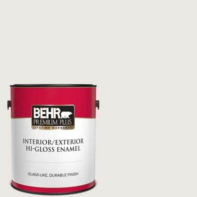 1 gal. #MQ3-32 Cameo White Hi-Gloss Enamel Interior/Exterior Paint