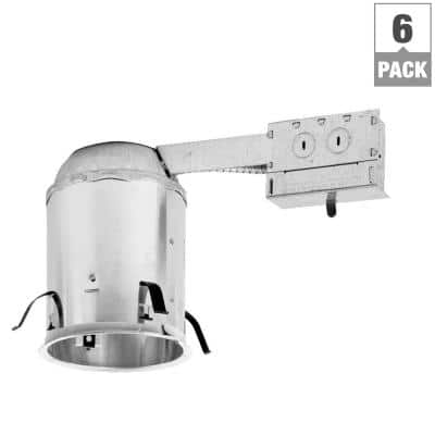 H7 6 in. Aluminum Recessed Lighting Housing for Remodel Ceiling, Insulation Contact, Air-Tite (6-Pack)