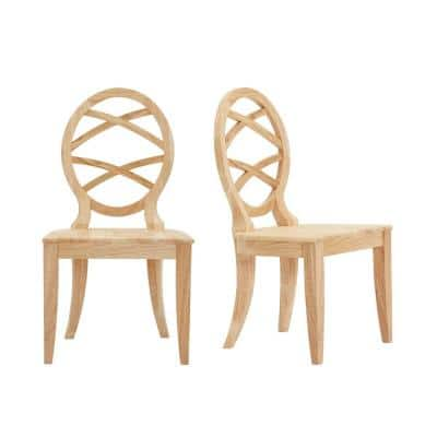 Unfinished Wood Chair with Oval Back (Set of 2) (20.24 in. W x 36.87 in. H)