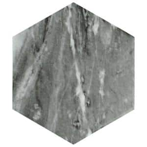 Classico Bardiglio Hexagon Dark 7 in. x 8 in. Porcelain Floor and Wall Tile (7.67 sq. ft. / case)