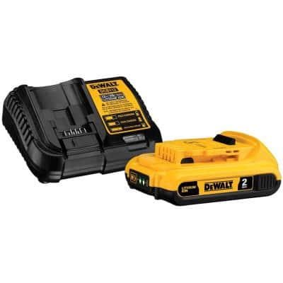 20-Volt 2.0 Ah MAX Lithium-Ion Battery Pack with Charger