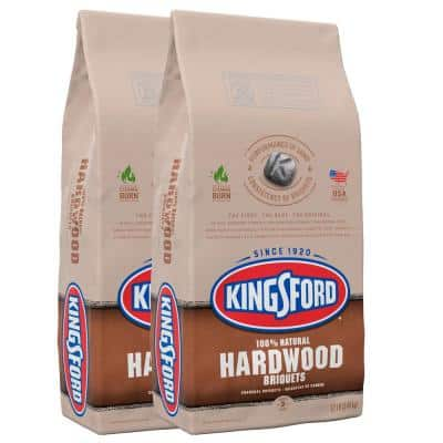 12 lbs. 100% Natural Hardwood Charcoal Briquettes (2-Pack)