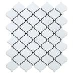 Take Home Sample - Marrakesh White 4 in. X 4in. Metal Peel and Stick Wall Mosaic Tile (0.11 sq.ft/Each)