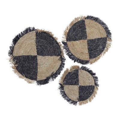 29 in. x 29 in. Brown Dried Plant Fibers Natural Wall Decor (Set of 3)